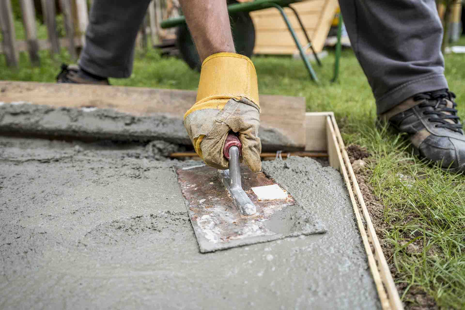 How do you maintain a concrete patio?